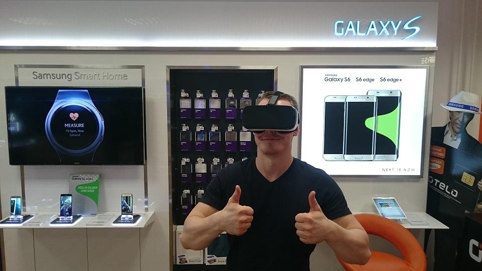 Die Gear VR hat im Test mit dem Samsung Galaxy S7 bestanden.